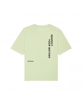 T-shirt mixte vert Respect...