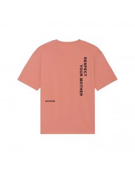 T-shirt mixte rose Respect...