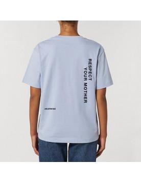 T-shirt mixte bleu Respect...