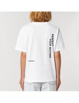 T-shirt mixte blanc Respect...