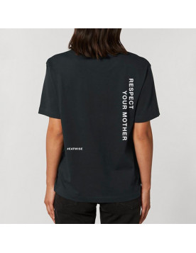 T-shirt mixte noir Respect...